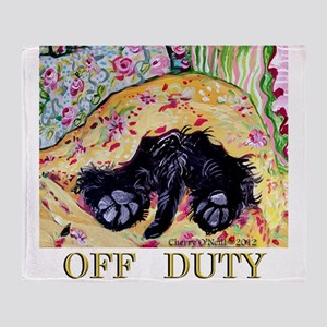 Scottish Terrier Off Duty Throw Blanket